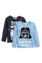 2-pack long-sleeved T-shirts - Blue/Star Wars - Kids | H&M CN 2